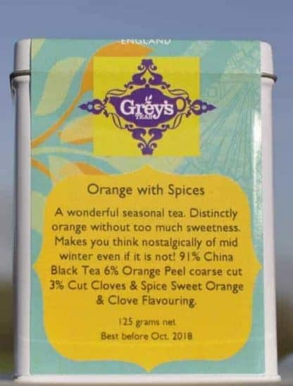 Orange with Spices 125 g caddy